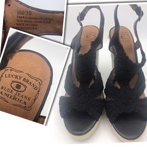 Lucky Brand New Wedge Shoe Ladies Size 9